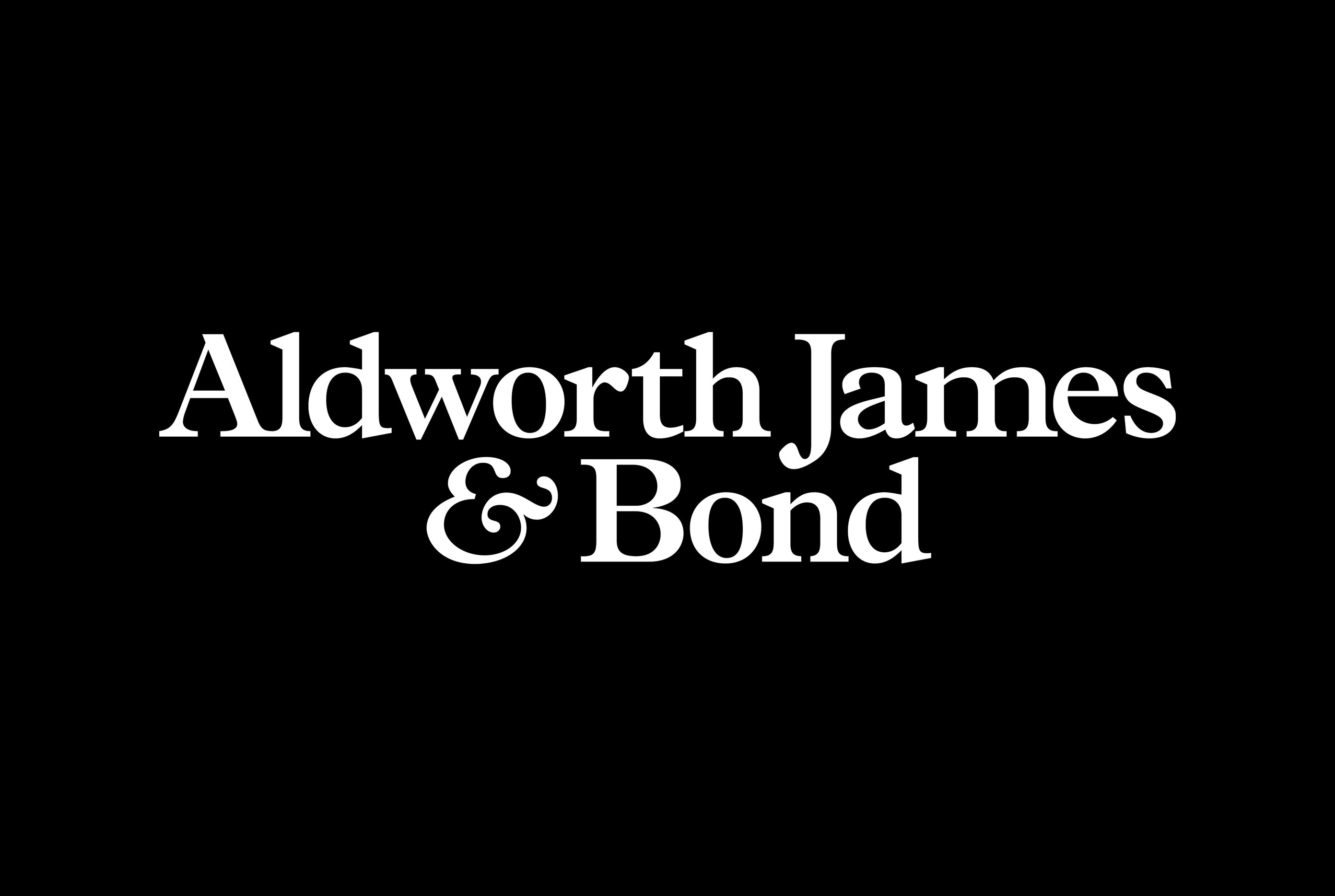 Aldworth James & Bond identity